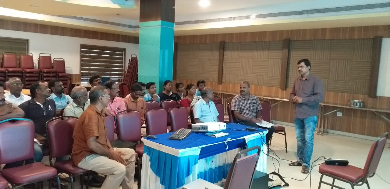 Officials of Goods Division III/IAC conducting training on GST - 9 Annual Return