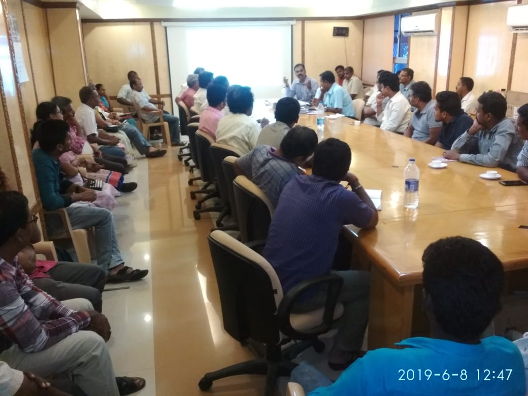 Officials of Goods Division-I conducting training on GST - 9, 9A & 9C