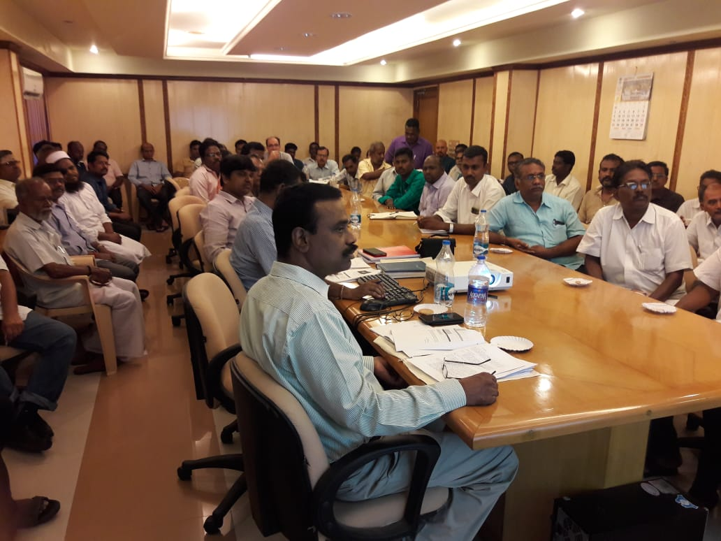 Officials of Goods Division-I conducting training on GST - 9 Annual Return at Conference Hall
