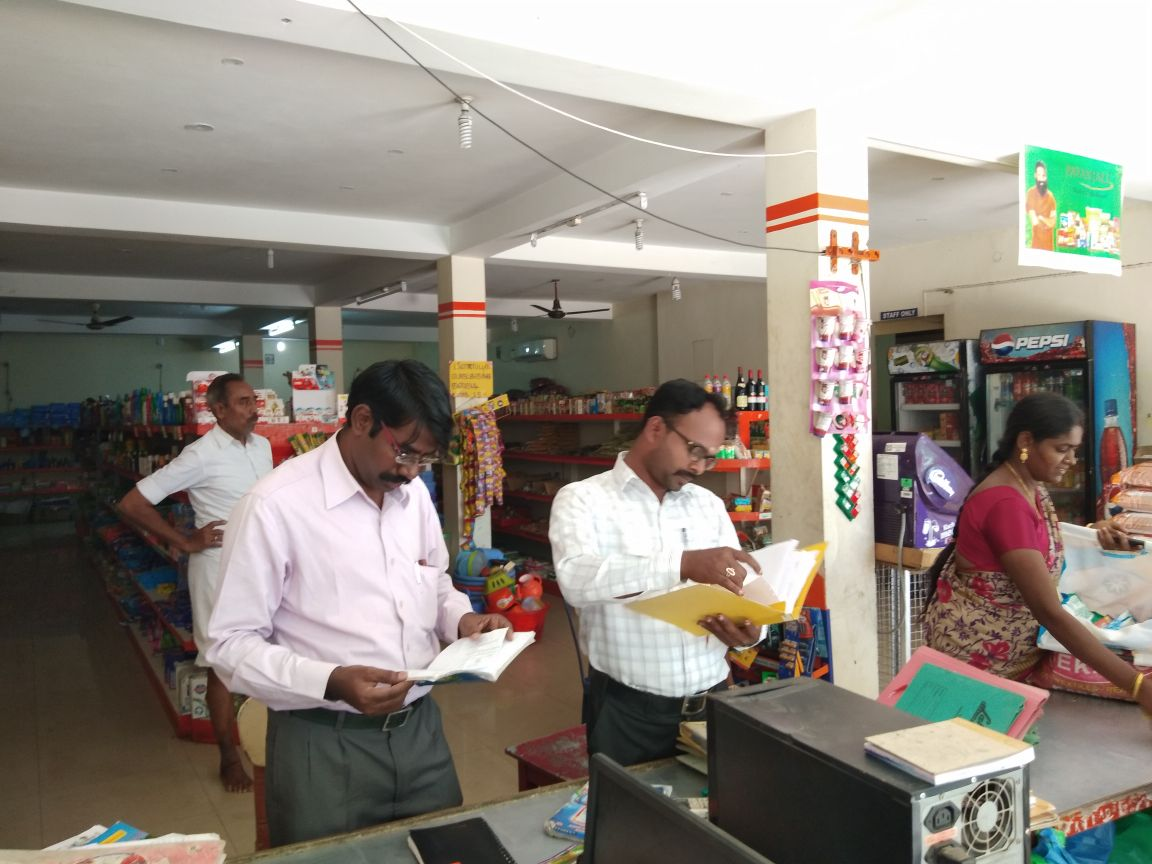 Officials conducting Inspection at a Dealer premises in Karaikal